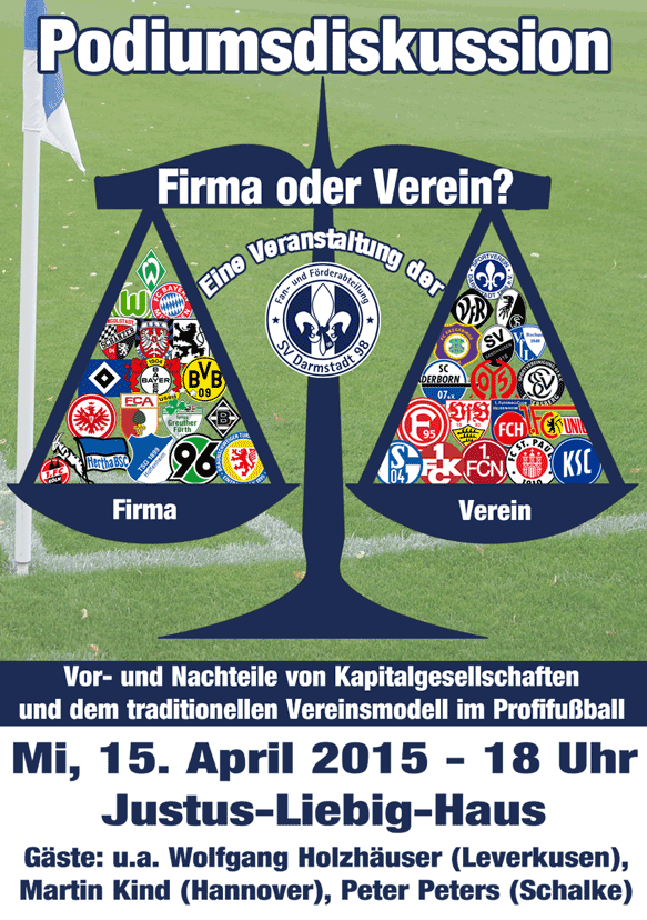 Artikelbild Verein oder Firma? - Podiumsdiskussion am 15. April in Darmstadt