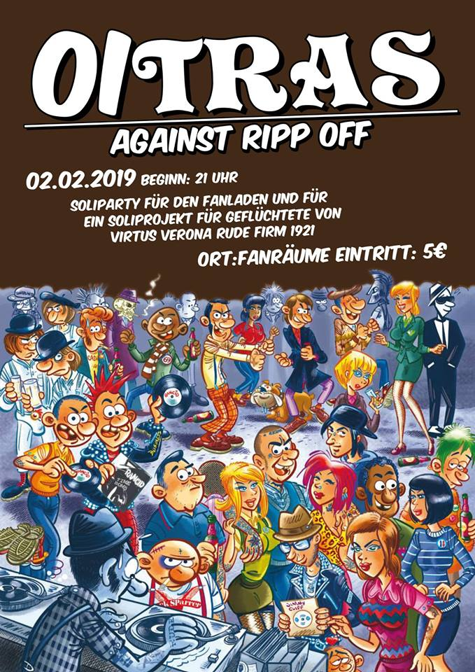 Artikelbild 02. Februar: OiTras! against rip off - Soli-Party