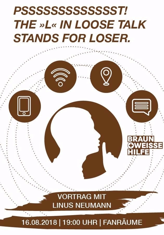 "Artikelbild ""Psssssst! – The »L« in Loose Talk stands for Loser"" Vortrag mit Linus Neumann"
