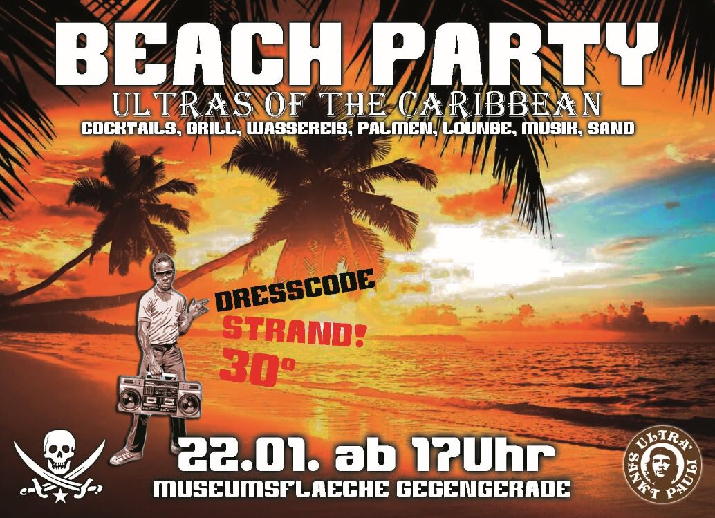 Artikelbild 22. Januar: USP-Beachparty